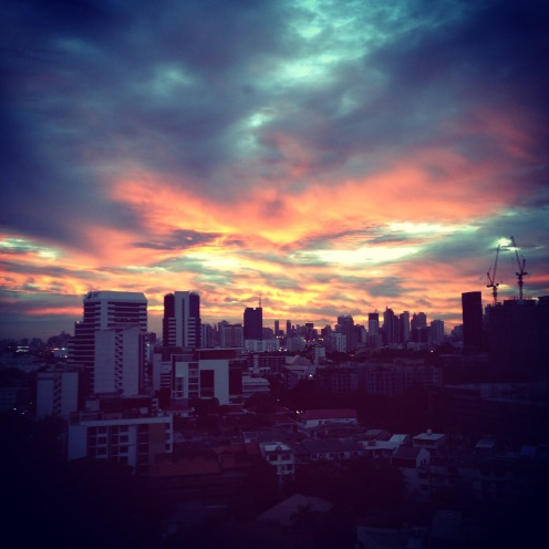 A Bangkok sunset
